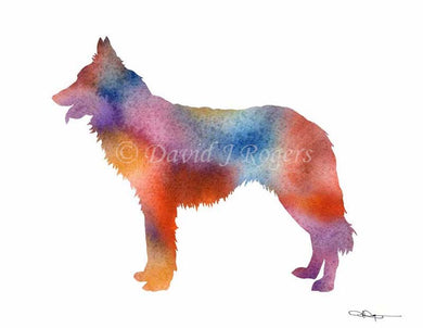 A Dutch Shepherd 0 print based on a David J Rogers original watercolor