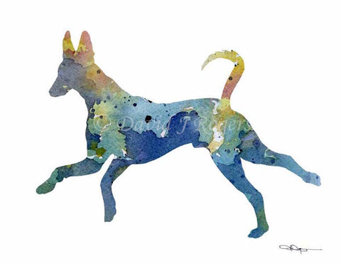 Ibizan Hound Watercolor