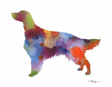 A Irish Setter 0 print based on a David J Rogers original watercolor