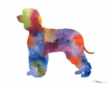 A Irish Water Spaniel 0 print based on a David J Rogers original watercolor