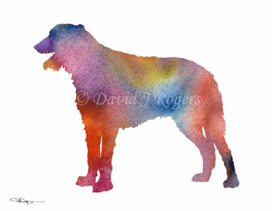A Irish Wolfhound 0 print based on a David J Rogers original watercolor