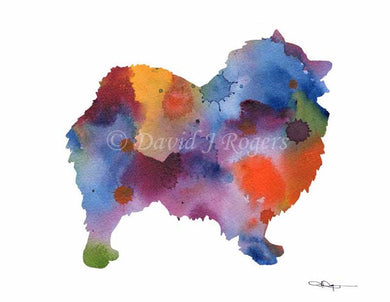 A Keeshond 0 print based on a David J Rogers original watercolor