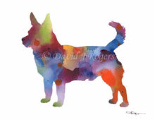 Load image into Gallery viewer, A Lancashire Heeler 0 print based on a David J Rogers original watercolor