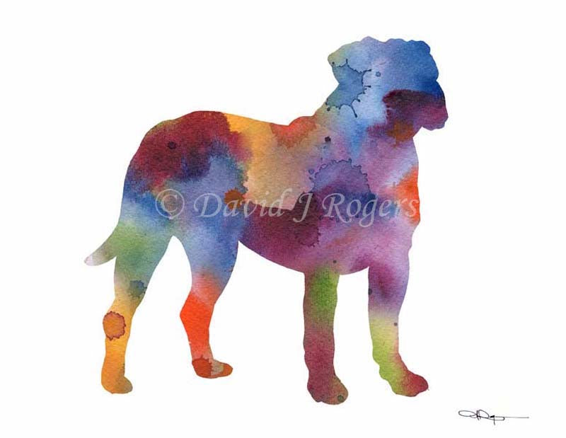 A Mastiff 0 print based on a David J Rogers original watercolor