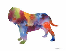 Load image into Gallery viewer, A Neopolitan Mastiff 0 print based on a David J Rogers original watercolor