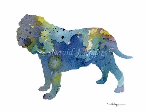 A Neopolitan Mastiff 0 print based on a David J Rogers original watercolor