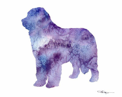 A Newfoundland 0 print based on a David J Rogers original watercolor