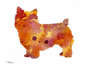 A Norwich Terrier 0 print based on a David J Rogers original watercolor