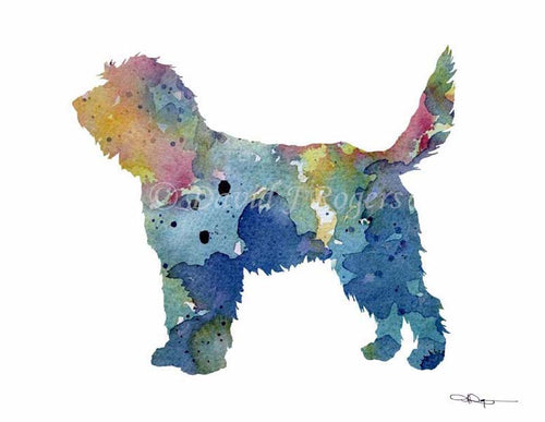 A Otterhound 0 print based on a David J Rogers original watercolor