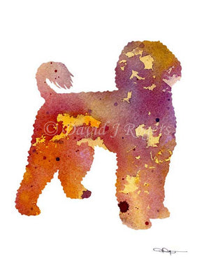 A Portuguese Water Dog 0 print based on a David J Rogers original watercolor