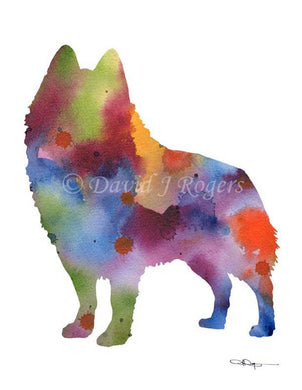 A Schipperke 0 print based on a David J Rogers original watercolor