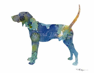 A Treeing Walker Coonhound 0 print based on a David J Rogers original watercolor