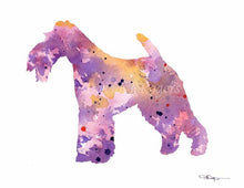 Load image into Gallery viewer, A Wire Fox Terrier 0 print based on a David J Rogers original watercolor
