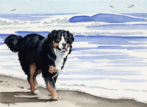 Bernese Mountain Dog Wall Art Print Poster Picture Painting Room Decor