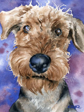 Airedale Terrier Dog Wall Art Print Poster Picture Painting Bedroom