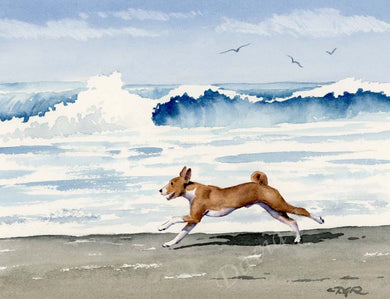 Basenji Dog Wall Art Print Poster Picture Painting Bedroom Room Decor