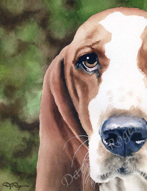 Basset Hound Dog Wall Art Print Poster Picture Painting Living Decor