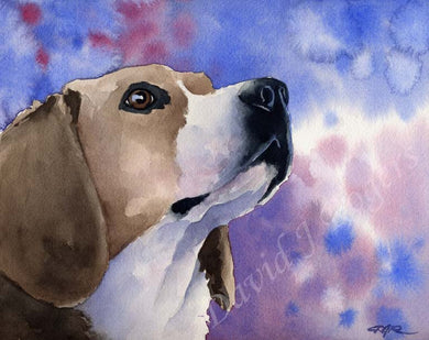 Beagle Dog Wall Art Print Poster Picture Painting Living Room Decor