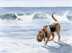 Bloodhound Puppy Dog Wall Art Print Poster Picture Painting Room Decor