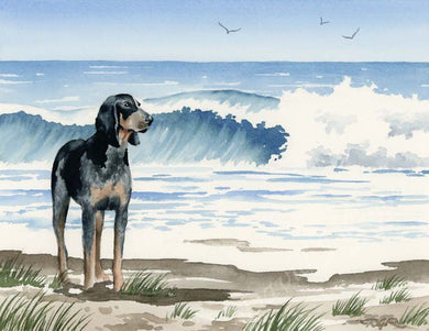 Bluetick Coonhound Dog Wall Art Print Poster Picture Painting Decor
