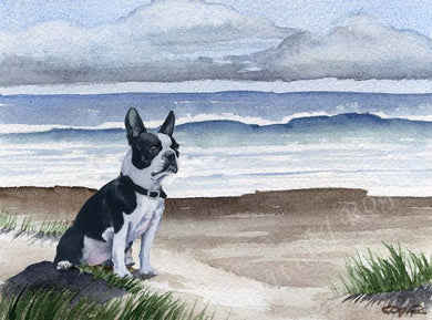 Boston Terrier Dog Wall Art Print Poster Picture Painting Room Decor