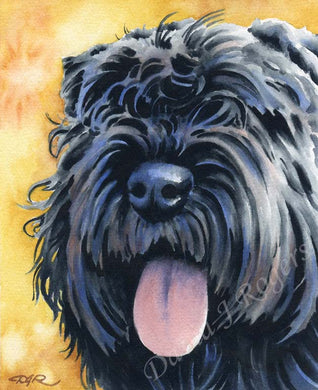Bouvier Des Flandres Dog Wall Art Print Poster Picture Painting Decor