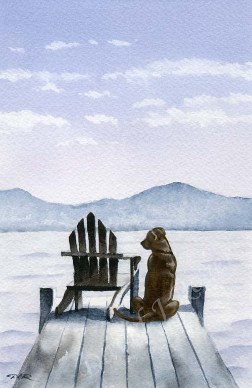 A Chocolate Lab other print based on a David J Rogers original watercolor