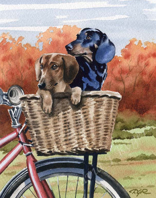 A Dachshund other print based on a David J Rogers original watercolor