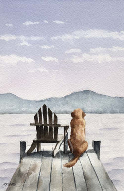 A Golden Retriever other print based on a David J Rogers original watercolor