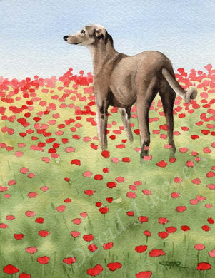 A Greyhound other print based on a David J Rogers original watercolor