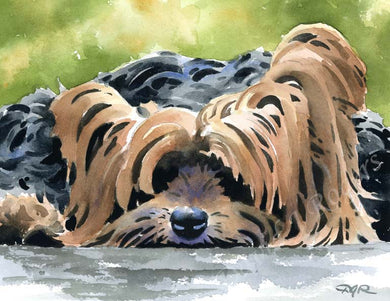 A Yorkshire Terrier 0 print based on a David J Rogers original watercolor