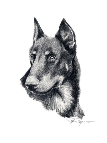 Beauceron Dog Wall Art Print Poster Picture Painting Living Room Decor