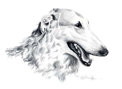 Borzoi Dog Wall Art Print Poster Picture Painting Living Room Decor