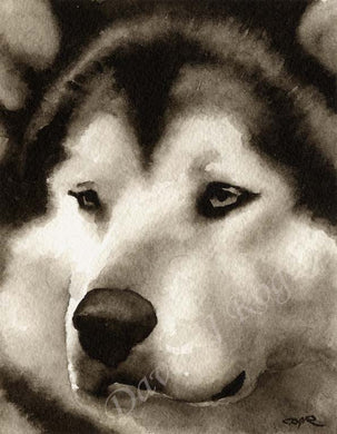 Alaskan Malamute Dog Wall Art Print Poster Picture Painting Room Decor
