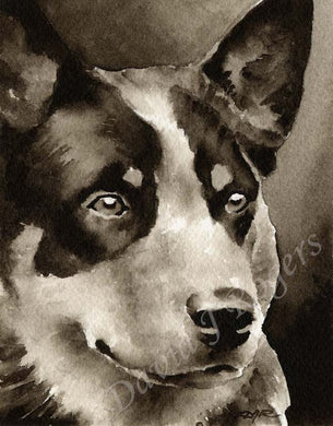 Australian Cattle Dog Dog Wall Art Print Poster Picture Painting Decor