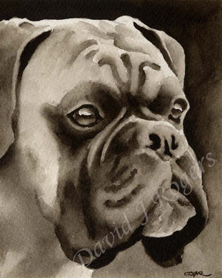 Boxer Dog Wall Art Print Poster Picture Painting Living Room Decor