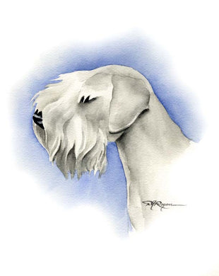 A Sealyham Terrier 0 print based on a David J Rogers original watercolor