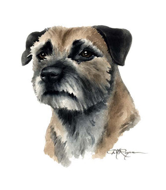 Border Terrier Dog Wall Art Print Poster Picture Painting Room Decor