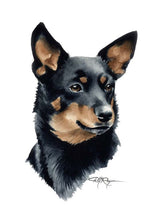 Load image into Gallery viewer, A Lancashire Heeler portrait print based on a David J Rogers original watercolor
