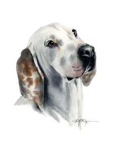 A Porcelaine portrait print based on a David J Rogers original watercolor
