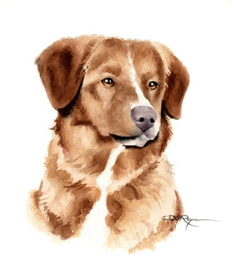 A Toller 0 print based on a David J Rogers original watercolor