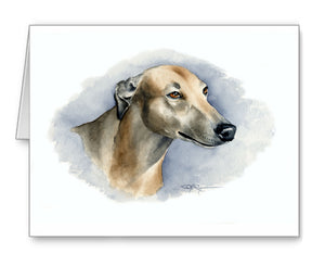 Greyhound Contemporary Watercolor Art Collection by Artist DJ Rogers