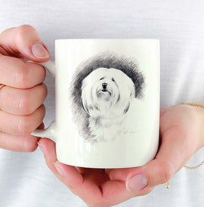 A Havanese portrait print based on a David J Rogers original watercolor