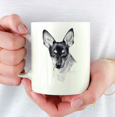 A Toy Fox Terrier portrait print based on a David J Rogers original watercolor