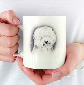 A Coton De Tulear portrait print based on a David J Rogers original watercolor
