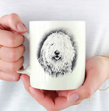 A White Puli 0 print based on a David J Rogers original watercolor
