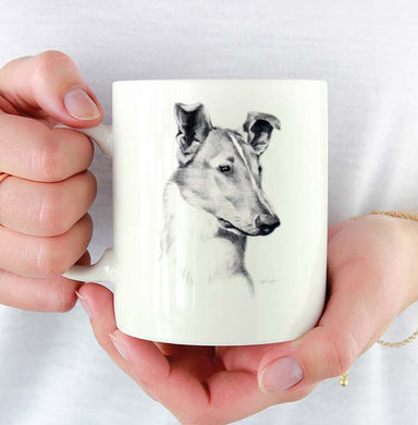 A Smooth Collie portrait print based on a David J Rogers original watercolor