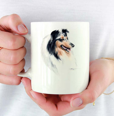 A Blue Collie portrait print based on a David J Rogers original watercolor