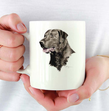 A Chesapeake Bay Retriever portrait print based on a David J Rogers original watercolor