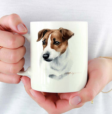 A Jack Russell Terrier portrait print based on a David J Rogers original watercolor